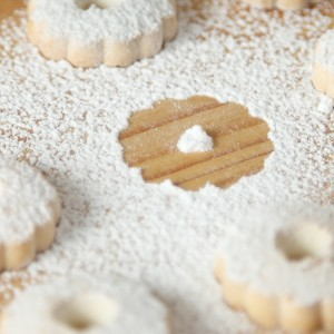Italian Canestrelli Biscuits Sprinkled With Powdered Sugar With